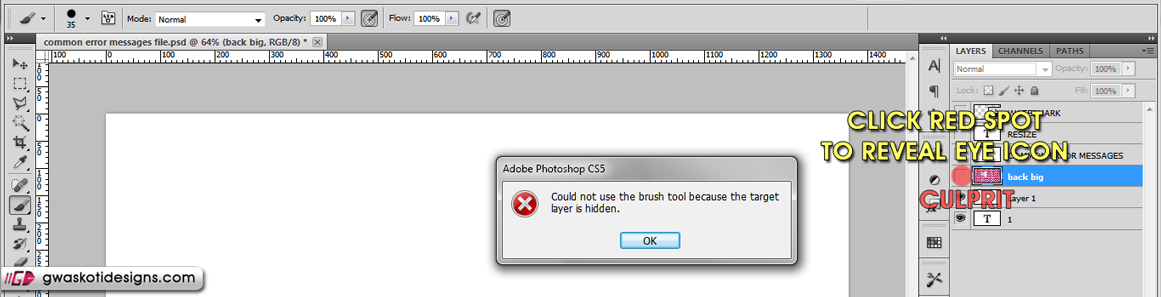 common error messages 2