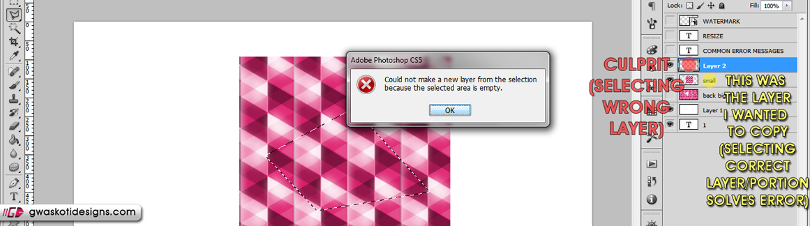 common error messages 6