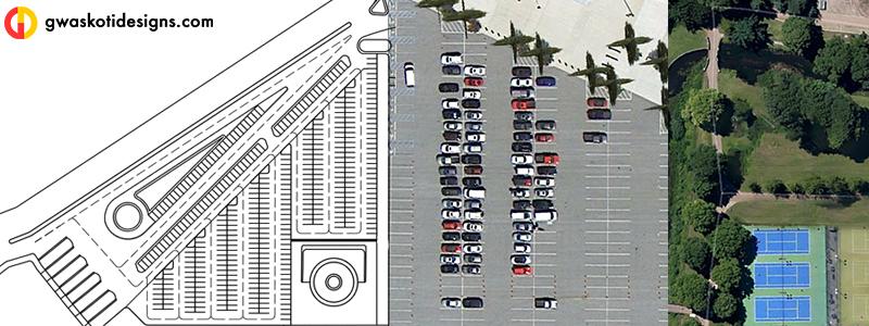 Parking Layout Plan Render in Photoshop | gwaskotidesigns
