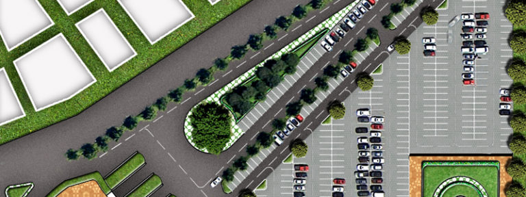 Parking Layout Plan Render in Photoshop